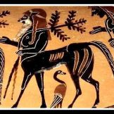 Centaur. Etruscan vase, red figure amphora. c 530 BC.