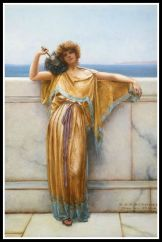 """Clymene"", by John William Godward. (19th century). Clymene was Atlas´mother."