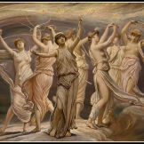 """The Pleiades"" by Elihu Vedder (1885). The Pleiades were daughters of Atlas."