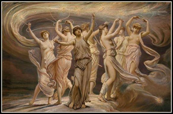 """""""The Pleiades"""" by Elihu Vedder (1885)."""