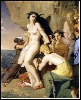 """""""Andromeda Chained to the Rock by the Nereids"""" by Théodore Chassériau. 1840."""