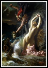 """""""Andromeda Chained to a Rock"""" by Henry-Pierre Picou. 1874."""