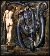 """The Doom Fulfilled"" by Edward Burne Jones. 1888."