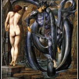 """The Doom Fulfilled"" by Edward Burne Jones. 1888."