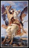 """""""Perseus riding Pegasus"""" by Paul Joseph Blanc. 19th century."""