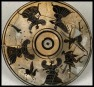 Pegasus, Medusa and the Gorgons. Pyxis. Black Figure (White Ground). ca 525 - 475 BC