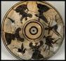 Pegasus, Medusa and the Gorgons. Pyxis. Black Figure (White Ground). ca 525 - 475 BC