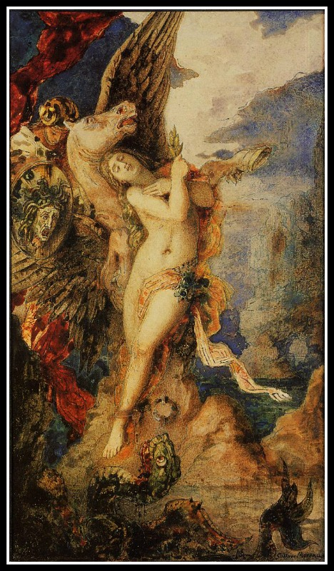 Perseus and Andromeda by Gustave Moreau. 1869.