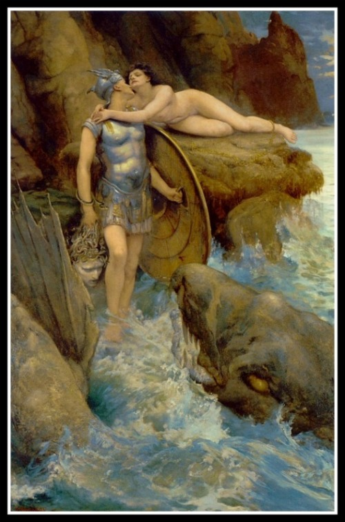 Perseus and Andromeda by Charles Napier Kennedy. 1890.