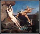 """Perseus freeing Andromeda"" by Emile Bin. 1865."