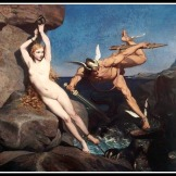 """Perseus freeing Andromeda"" by Emile Bin. 1865."