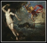 """""""Perseus and Andromeda"""" by Titian. 1559."""