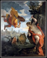 """""""Perseus Rescuing Andromeda"""" by Paolo Veronese. 1578."""