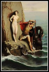 """""""Perseus and Andromeda"""" by Louis Matout. 19th century."""