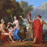 """The Judgement of Paris"" by François Xavier Fabre (1808).-"