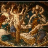 """Myhrra assisted by Lucina, the Goddess of Birth"" by Jean de Court (1560). Myhrra was Adonis´biological mother."
