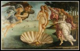 """The Birth of Venus"" by Sandro Botticelli (1486).- Aphrodite or Venus was one of the contestants in the Judgement of Paris"