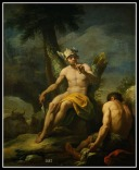 """Mercury and Argus"" by Luis Gonzales Velázquez. 18th century."