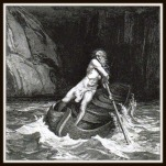 """Dante's Inferno: Charon, the Ferryman"" by Gustave Doré."