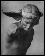 God Hypnos, Bronze sculpture found at Perugia in 1915. British Museum.
