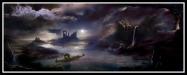 """Charon, the ferryman"". Illustration."