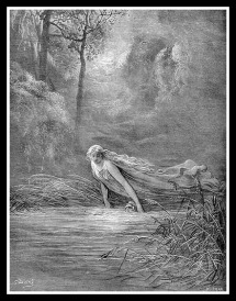 River Lethe. Engraving.