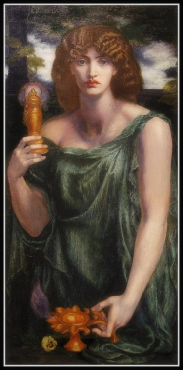 """Mnemosyne"" by Dante Gabriel Rossetti (1881) .-"