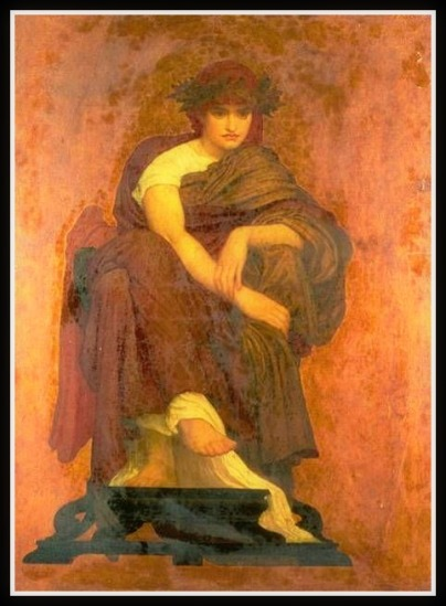"""Mnemosyne, The Mother of the Muses"" by Frederic Leighton. (19th century)."