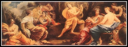 """Apollo and the Muses"" by Simon Vouet. 1640."