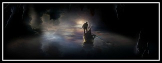 """Charon, the ferryman"". Illustration."