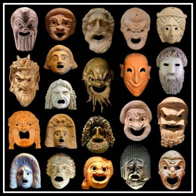Greek Masks. (Late 500 BC),