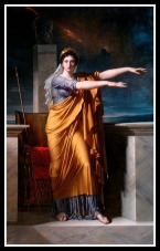 """Polyhymnia"" (Muse of Eloquence) by Charles Meynier. 1800."