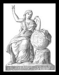 Urania. She was the Muse of astronomy and astrology. Her symbols were the  globe and the compass.