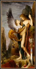 Oedipus and the Sphinx by Gustave Moreau. 1864.