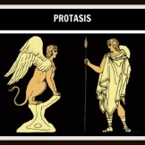 1. Protasis. A Plague is upon Thebes and Oedipus send Creon to the Delphi Oracle to know the reasons or this. Supposedly the only way to end it is by finding the King´s murderer.