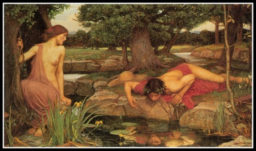 """Echo And Narcissus"" by John William Waterhouse (1903).-"