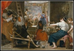 """The Spinners"", or, ""The Fable of Arachne"" by Diego Velázquez (1644–48)."
