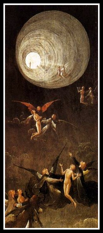 """""""Ascent of the Blessed"""" by Hieronymus Bosch, after 1490."""