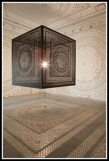 """Intersections"" by Anila Quayyum Agha. Contemporary artist."