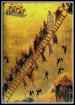 """""""The Ladder of Divine Ascent"""", late 12th century icon at Saint Catherine's Monastery, Mount Sinai."""