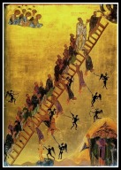 """The Ladder of Divine Ascent"", late 12th century icon at Saint Catherine's Monastery, Mount Sinai."
