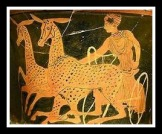 The Chariot of Artemis. Attic Red Figure. 400 BC.