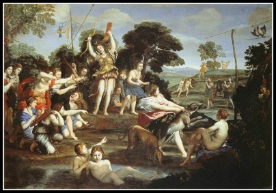 """""""Diana and her Nymphs"""" by Domenichino (1617)"""