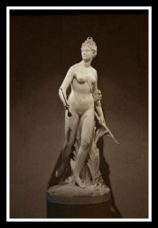 Artemis/Diana by Jean-Antoine Houdon (18th century)