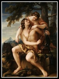 """Apollo and Artemis"" by Gavin Hamilton.1770."