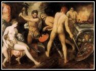 """Venus at Vulcan's Forge"" by Floris Frans (1560-64)."