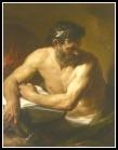 """""""Hephaestus"""" by Pompeo Batoni. 18th century."""