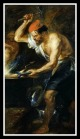 """Vulcan forging Jupiter's lighting bolts by Peter Paul Rubens"". 1638."