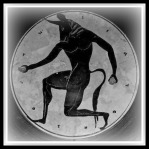 The Minotaur, in Greek Mythology, a monster with the body of a man and the head and tail of a bull.-