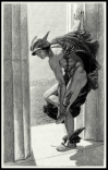 """Hermes"", by W. B. Richmond. From ""The magazine of art"" vol. 9, 1886."